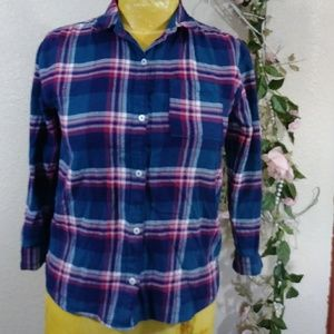 💕Old Navy Flannel Plaid Cotton Button Up